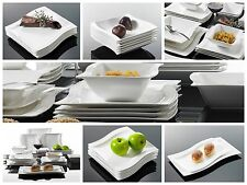 26PC Complete Dinner Set Wave Plates Bowls Ceramic Dinnerware Kitchen Dining Set