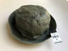 Ralph Lauren Polo Oil Cloth Water proof Beach Bucket Hat Military Green M S NEW