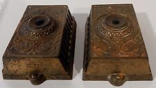 Pair of Antique Eastlake Victorian Cast Iron Doorbells