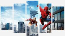 Spider-Man And Iron Man - Marvel Comics 5 Split Panel Canvas Pictures 28x40""