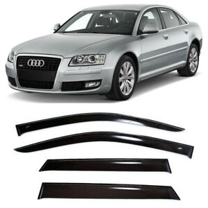 For Audi A8/S8 Long D3 2002-2011 Window Visors Side Rain Guard Vent Deflectors