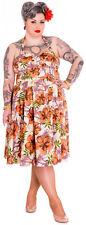Hell Bunny KAILA Tiki Flower Vintage 50s NECKHOLDER Dress - Plus Size Rockabilly