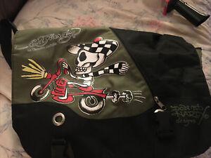 RARE 🔥Ed Hardy, Skeleton Messenger Bag, New🔥Invest💥💥