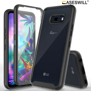 For LG G8X ThinQ Case Full-Body Rugged Clear Back Hybrid Shockproof Phone Cover