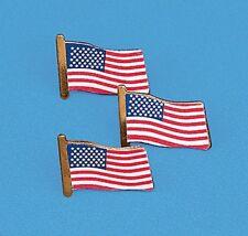 24 Patriotic USA Flag clutch pins - New