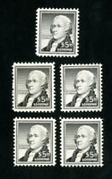 US Stamps # 1053 F-VF+VF Lot of 5 OG NH Scott Value $250.00