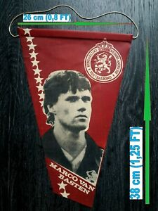 MARCO VAN BASTEN Netherlands Milan Ajax vintage pennant banderin wimpel