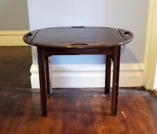 Wooden Butler's Serving Tray Table-  Dark Brown -