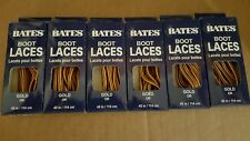 6 Pairs Bates Unisex Shoe Boot Laces 45in Gold