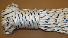 "NEW 7/16"" x 125' Double Braid Polyester Sail/Halyard Line, Jibsheets, Boat Rope"