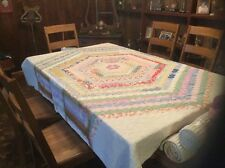 Vintage Quilt...Has Domino Sugar Sack Backing...Nice