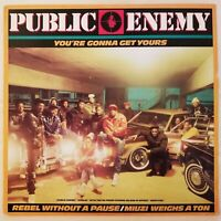 PUBLIC ENEMY RECORD VINYL 1987 DEF JAM RECORDING YOU'RE GONNA GET YOURS / REBEL