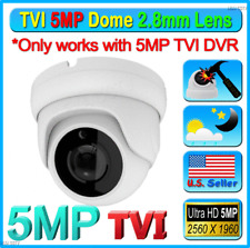 5Mp Tvi Chipset Hd 2.8mm Cctv Wide Angle Weatherproof Outdoor Camera Dome