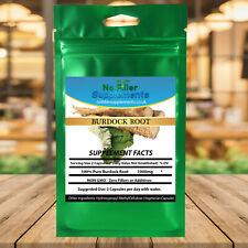 NoFillerSupplements 100% Pure Burdock Root Vegetable Capsules
