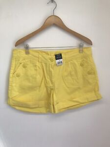 George Size 16 Yellow Shorts Cotton Bright Summer Casual BNWT NEW
