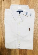 Polo Ralph Lauren Womens Oxford Shirt Slim Fit 0 NEW