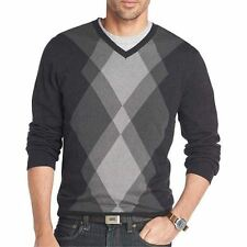 Van Heusen Argyle Sweater Black Multi New Msrp $70.00 Size XL