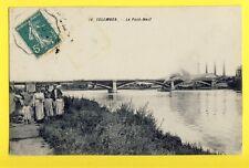 cpa Ecrite en 1910 FRANCE 92 - COLOMBES  PONT-NEUF Animés Usines Bateau Toueur