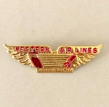 Vintage Retro Western Airlines Junior Pilot Lapel Pin Wings Aviation Accessories