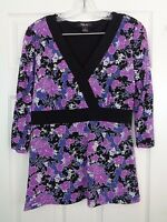 Style & Co Women's V-Neck Floral Tunic Top Size Medium