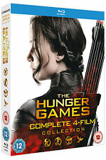 THE HUNGER GAMES Complete 1 2 3 & 4 Catching Fire Mockingjay Boxset NEW BLU-RAY