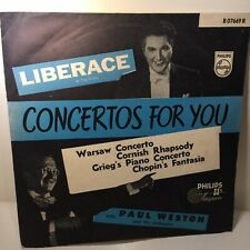 Liberace At The Piano 'Concertos For You' Phillips Minigroove 33 1/3 Record