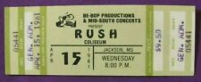 Rush 1981 Moving Pictures Tour Vintage Complete Unused Concert Ticket