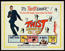 TWIST AROUND THE CLOCK original U.S HALF SHEET 22X28 -CHUBBY CHECKER-ROCK N ROLL