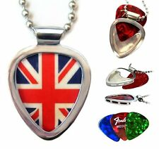 Union Jack & PickBay Guitar pick holder pendant RESPECT the PLEC Post PUNK cool