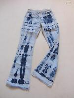 Levi's® 525 Bootcut Jeans Hose W 28 /L 32, Batik Hippie 70'er Denim, Unikat ! 36