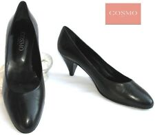 COSMO - SHOE CLASSICS AND ELEGANT ALL LEATHER BLACK 37 - VERY GOOD CONDITION