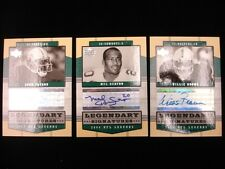 Lot of 3 2004 Upper Deck NFL Legends 'Legendary Signatures' Cards
