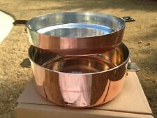 *NEW* Mauviel 24cm Copper Pomme Anna Pan Bronze Ears Tin Lined  France Casserole