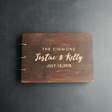 Custom Wedding Guest Book Rustic Wedding Guestbook Wood Engagement Party Decor