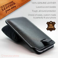 Black✔Luxury Leather Style Pull Tab Pouch Phone Case Cover✔Excellent Protection