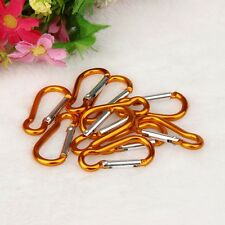 10pcs Aluminum Alloy D Carabiner Spring Snap Clip Hooks Keychain Climbing