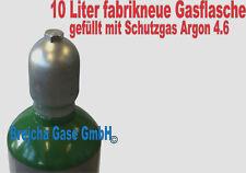 Gasflasche 10 Liter Argon 4.6 Schutzgas Schweißgas WIG