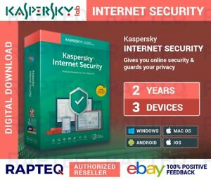 Kaspersky Internet Security 2021 3 Devices 2 years PC/Mac/Android UK only