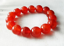 Natural Real Beautiful Carnelian Bangle Bracelet Stretchy 50mm Round Beads Red