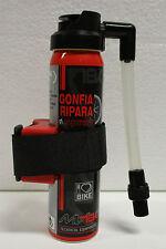 Spray gonfia e ripara bomboletta per bicicletta bici mtb da corsa con supporto