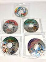 General Mills PC Game Lot-101 Dalmations, Tarzan, Jungle Games, Sorry, Aladdin
