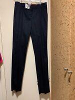 NEW Max Mara Pant Women's Dark Blue, straight leg, career IT 42, USA 8.