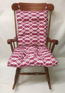 Indoor Outdoor Rocking Chair Glider Cushion Set Over Sized Vivid Burgundy Patio