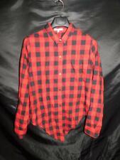 Madewell XXL 2X NWT Red Black Plaid Flannel Tie Front Shrit Buffalo Plaid Blouse