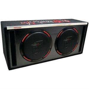 """CERWIN VEGA H6E12DV- 2X 12"""" 2400W LOADED VENTED BOX SUBWOOFERS BASS SPEAKERS*NEW"""
