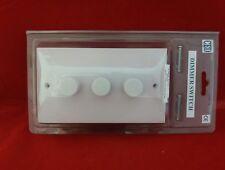 CED ceddp 400/32W 60-400 W 3 Gang 3G Interruptor Regulador Blanco Nuevo