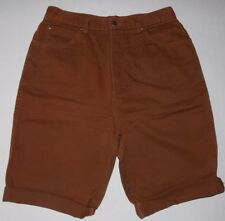 "Stefano International Brand Women's Shorts Size 16 100% Cotton 221/2"" Long Brown"