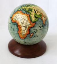 Globus auf Holzsockel, Höhe 13cm Antik-Dekoration Ø 10cm