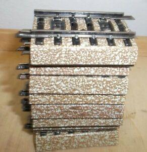 10 x Märklin H0 5108 M-Gleis Ausgleichstücke gerade 1/4 gut in OVP