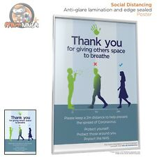 General Virus Social Distancing Poster A2 A3 A4 anti-glare lamination & sealed